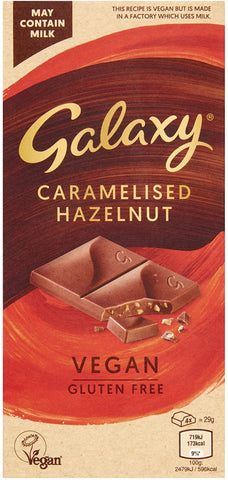 Galaxy Vegan Caramelised Hazelnut Bar (10 x 100g)