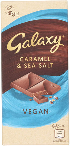 Galaxy Vegan Caramel & Sea Salt Bar  (10 x 100g)