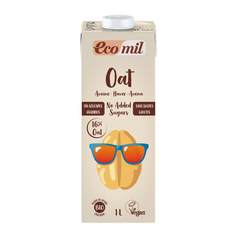 Ecomil Oat Drink - Calcium No Added Sugar 1Ltr (Pack of 6)