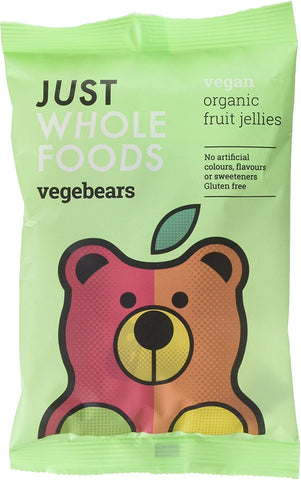 Just Wholefoods Vegebears 70g (Pack of 10)