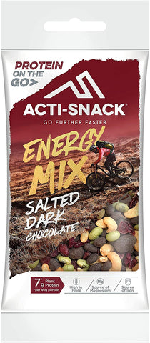 Act snack Salted Dark Chocolate Energy Mix 40g (Pack of 12)