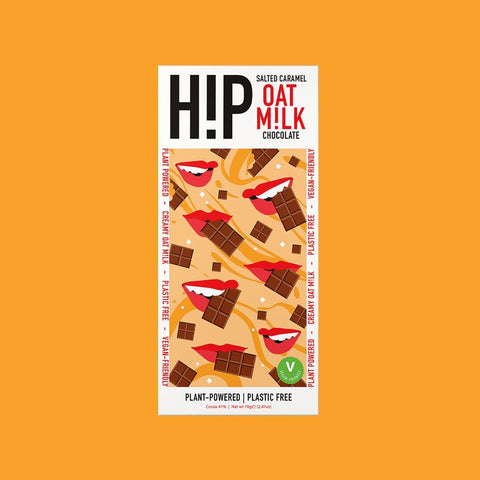hip choc Salted Caramel Oat Milk Chocolate  70g (Pack of 12)
