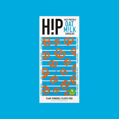 hip choc Salty Pretzel Oat Milk Chocolate  70g (Pack of 12)