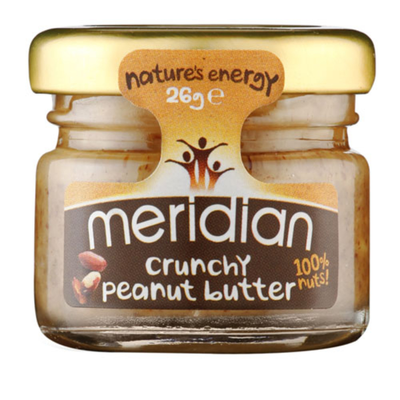 Meridian Peanut Butter - Crunchy 100% Nuts 26g (Pack of 45)