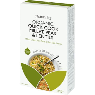 Clearspring Quick Cook Organic - Millet Peas & Lentils 250g