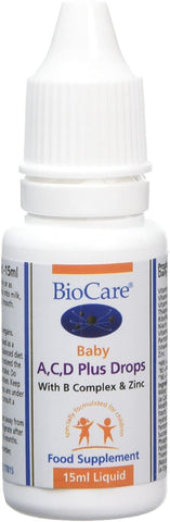 BioCare Baby A/C/D Plus Drops, 15 ml agents