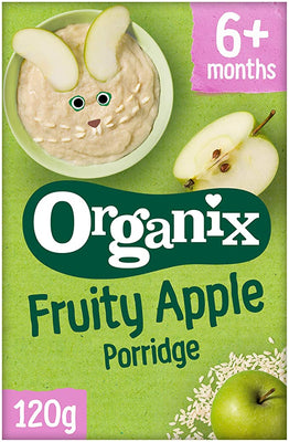 Organix Fruity Apple Porridge (4+) 120g (Pack of 5)
