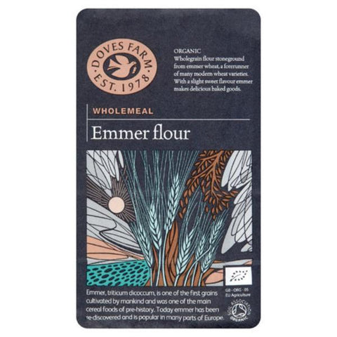 Doves Farm Wholemeal Stoneground Emmer Flour 1Kg (Pack of 5)