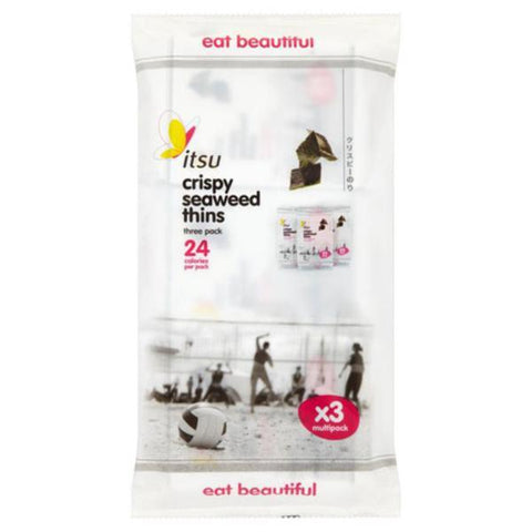 Itsu Crispy Seaweed Thins Multipack 5gx3 (Pack of 6)