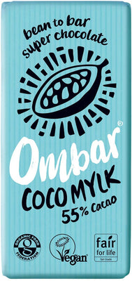 Ombar Coco Mylk Chocolate Bar 35g (Pack of 10)