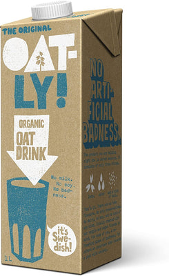 Oatly Organic Oat Drink 1 Litre (Pack of 6)