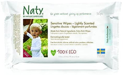 Naty by Nature Babycare Wipes - Lightly Scented Sensitive 390g