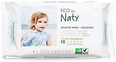 Naty by Nature Babycare Wipes - Unscented Sensitive 390g
