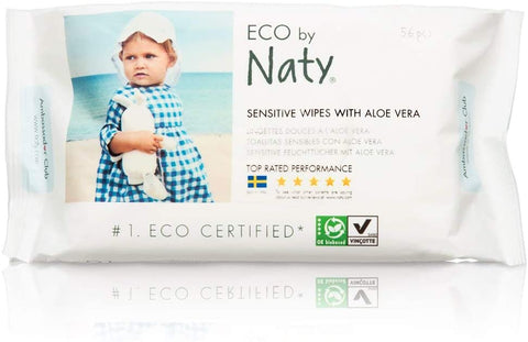 Naty by Nature Babycare Sensitive Wipes With Aloe 390g