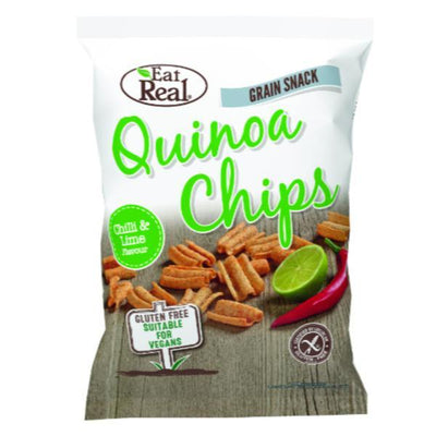 Eat Real Quinoa Chilli & Lime Chips 30g (Pack of 12)