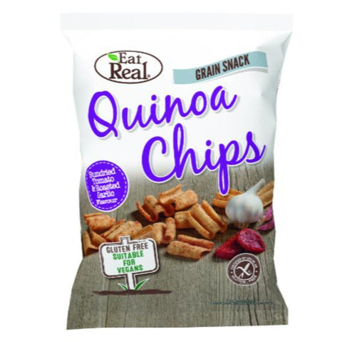 Eat Real Quinoa Tomato & Garlic Chips 30g (Pack of 12)