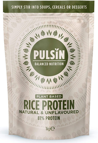 Pulsin Rice Protein Powder - 100% Natural,Unsweetened & Unflavoured 1kg