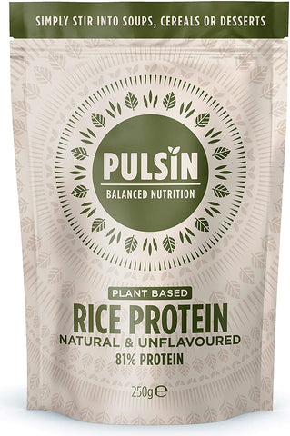 Pulsin Rice Protein Powder - 100% Natural,Unsweetened & Unflavoured 250g