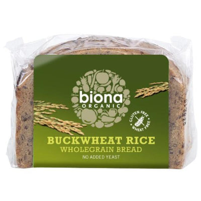 Biona Organic Rice Buckwheat Bread 250g