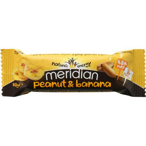 Meridian Peanut & Banana Bar 40g (Pack of 18)