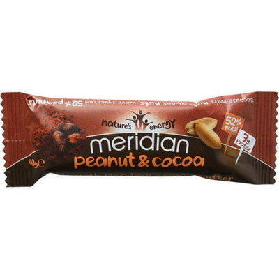 Meridian Peanut & Cocoa Bar 40g (Pack of 18)