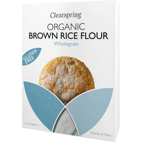 Clearspring Organic & Gluten Free Brown Rice Flour 375g