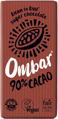 Ombar Pure 90% Raw Chocolate 35g (Pack of 10)