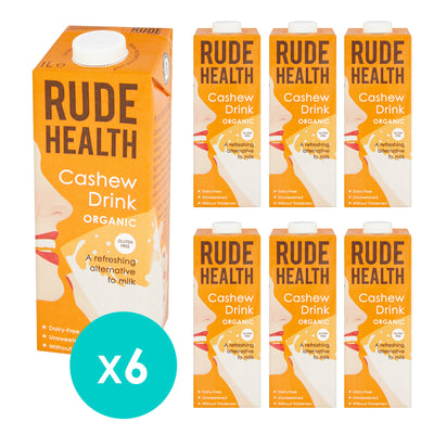 Rude Health Organic Cashew Drink 1 Litre. (Pack of 6)