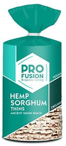 Profusion Hemp Sorghum Organic Thins 120g