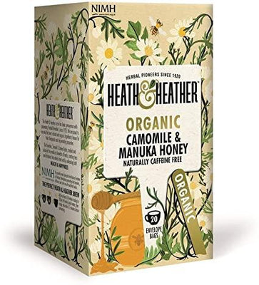 Heath & Heather Organic Camomile & Manuka Honey Tea 20 Bags