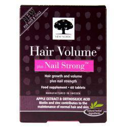 New Nordic Hair Volume Plus Nail Strong 60Tabs