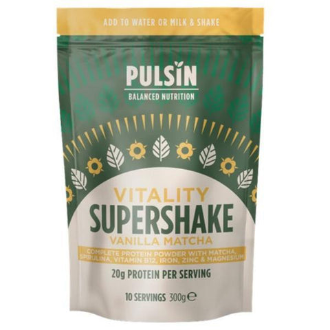 Pulsin' Limited Vitality Vanilla Matcha Supershake 300g