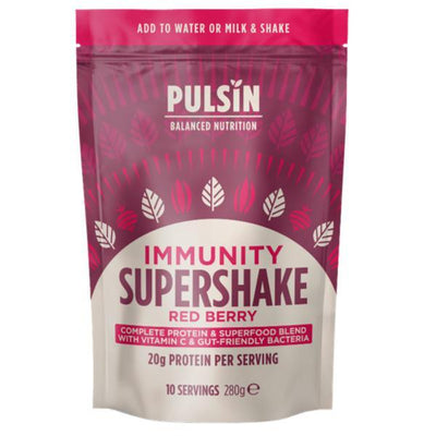 Pulsin' Limited Immunity Red Berry Supershake 280g