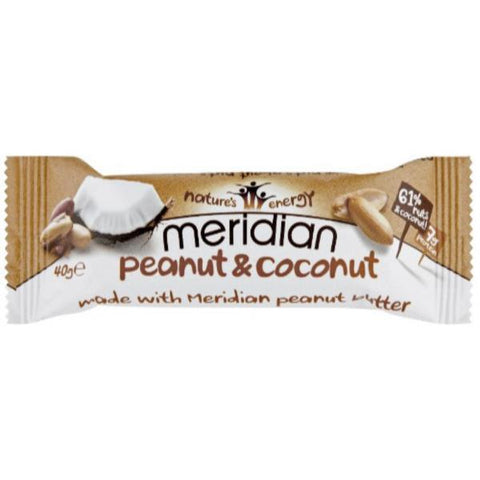 Meridian Peanut & Coconut Bar 40g (Pack of 18)