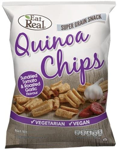 Eat Real Tomato Garlic Quinoa Chips 22g (Pack of 24)