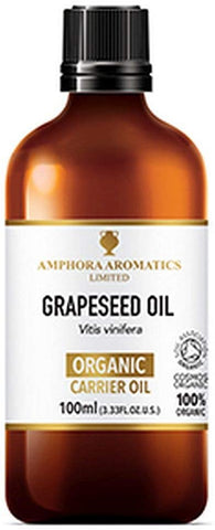 Amphora Aromatics Organic Grapeseed Oil 100ml (Pack of 6)
