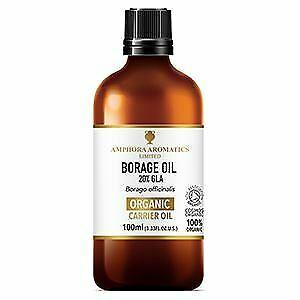 Amphora Aromatics Organic Borage Oil (20% GLA) 100ml (Pack of 6)