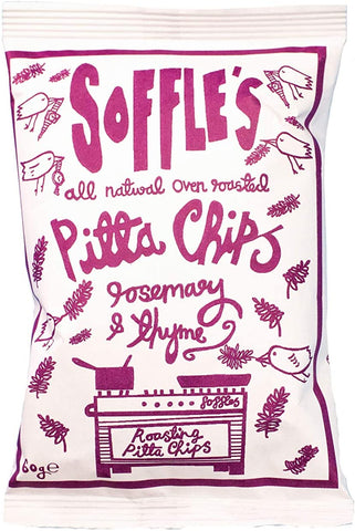 Soffle's Rosemary & Thyme Pitta Chips 60g (Pack of 15)
