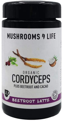 Mushrooms 4 Life Organic Cordyceps Beetroot Latte Miron Jars 130g