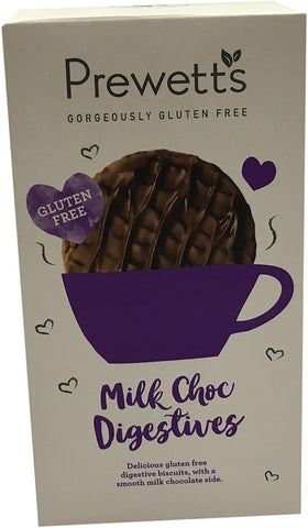 Prewetts Milk Chocolate Digestives - Gluten Free 165g (Pack of 7)