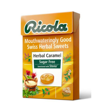 Ricola Herbal Caramel Sugar Free (With Stevia) 45g (Pack of 20)