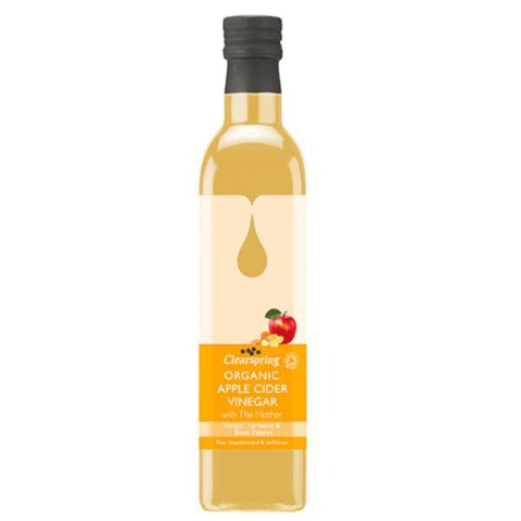 Clearspring Apple Cider Vinegar with the Mother Ginger, Turmeric & Black Pepper 500ml