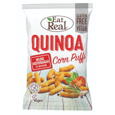 Eat Real Quinoa Puffs Mediterranean 40g (Pack of 12)