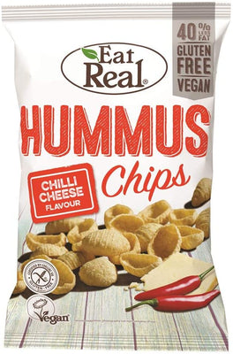 Eat Real Hummus Chips Chilli Cheese 45g (Pack of 12)