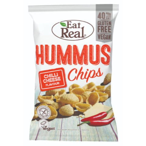 Eat Real Hummus Chips Chilli Cheese 135g (Pack of 10)