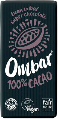 Ombar 100% Raw Cacao Bar 35g (Pack of 10)