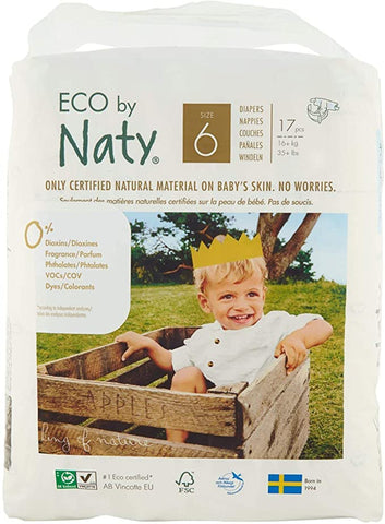 Nature Baby Nappies Size 6 - 17 Nappies