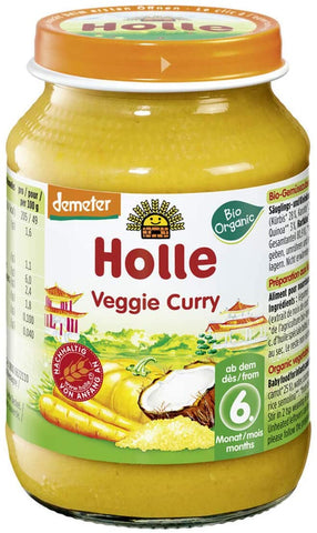 Holle Veggie Curry 6m+ 190g