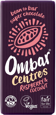 Ombar Raspberry & Coconut Centre Bar 70g (Pack of 10)