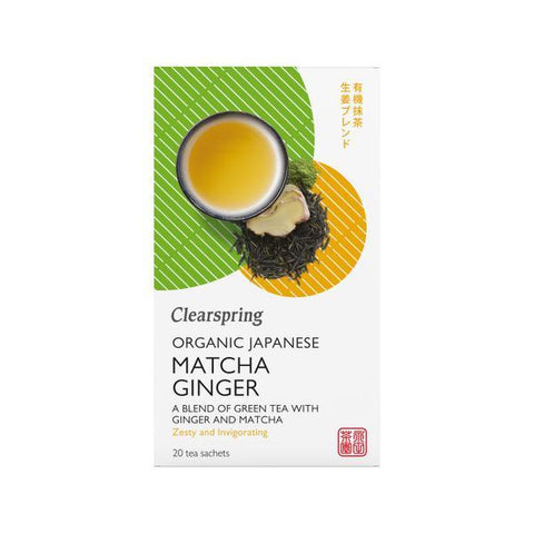 Clearspring Organic Japanese Matcha Ginger Tea 20 Bags